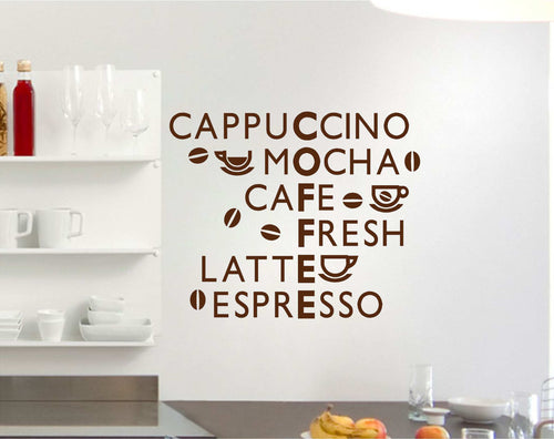 Acrostic Coffee Wall Art