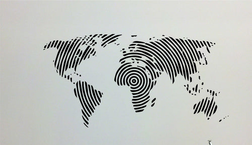 Spiral Map Cut Vinyl Wall Decal