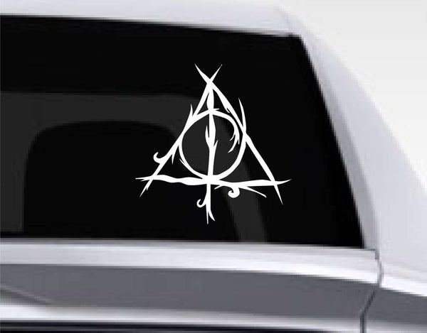 Effected Deathly Hallows Inspired Decal for Cars, Windows, Laptops and More! Tons of Colors Available!