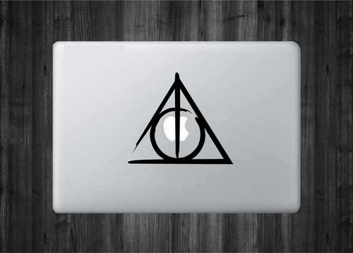Brushed Deathly Hallows Decal