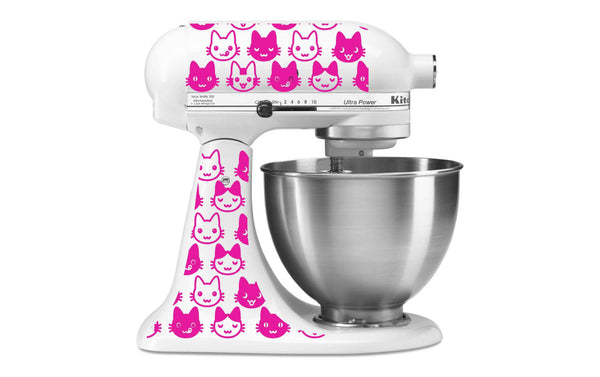 Cute Kitties Vinyl Decal Set for Kitchenaid Mixers and More!