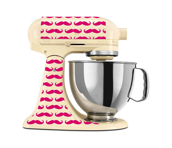 Mustache Themed Vinyl Decal Set for Kitchenaid Mixer and More!