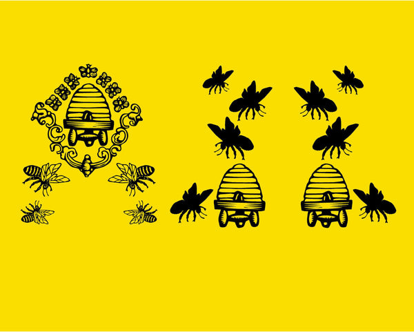 Vintage Beehive Decal Set