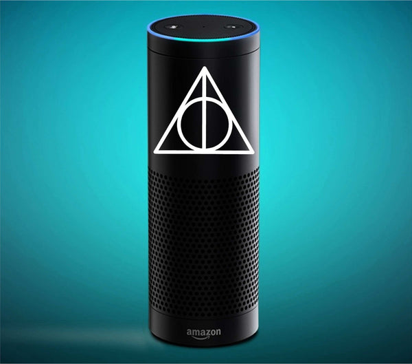 Deathly Hallows Inspired Vinyl Decal for Amazon Echo and More! Tons of Colors Available!