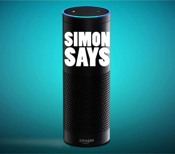 Simon Says Command Unique Vinyl Decal for Amazon Echo and More! Tons of Colors Available!