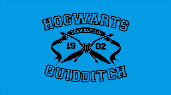 Hogwarts Quidditch Team Captain Inspired Black Unisex Tee