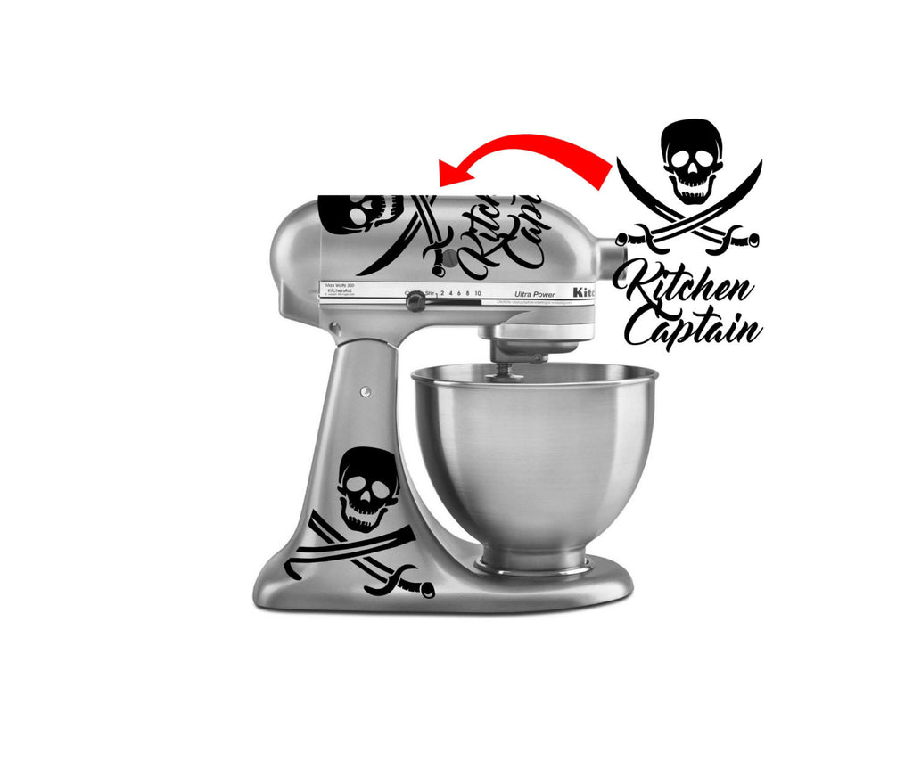 Kitchen Captain   Pirate Themed Vinyl Decals For Your Kitchenaid Mixer And  More!