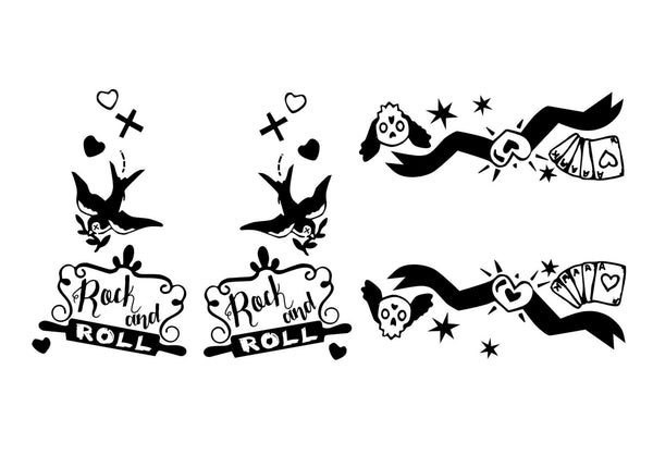 Rock and Roll - Tattoo Themed Vinyl Decals for Your Kitchenaid Mixer and More!