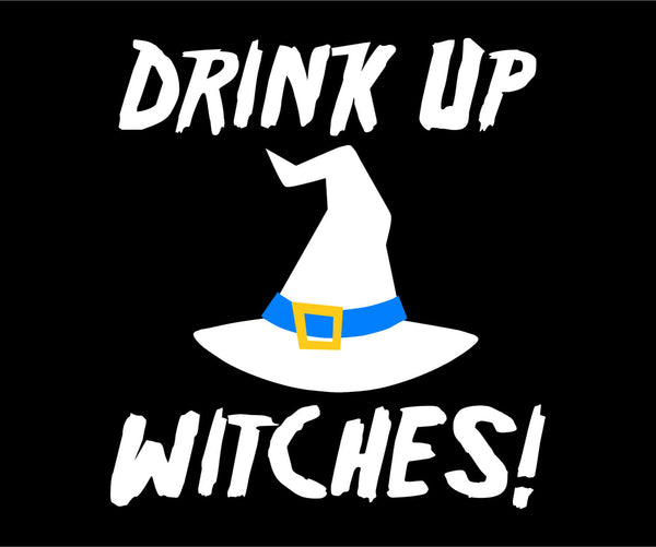 Drink Up Witches! Funny 3 Color Car Art Vinyl Decal