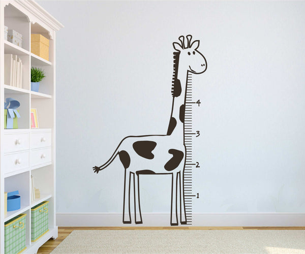 "Giraffe ""Heighth Chart"" Measuring Vinyl Decal"