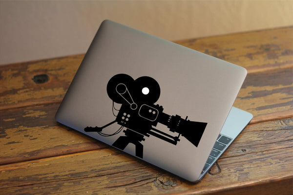 "Professional Camcorder Filmography Inspired Vinyl Decal with ""Glowing"" Reef for Macbook Laptops and More!"
