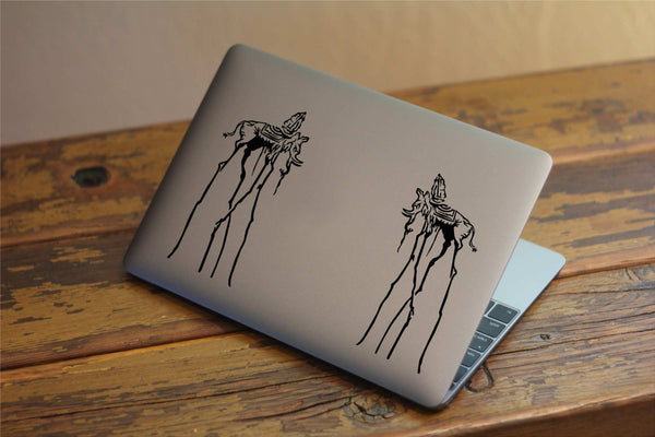 Dali's Elephants Fine Art Inspired Vinyl Decal for Laptops, Windows and More! Lots of Colors to Choose From!