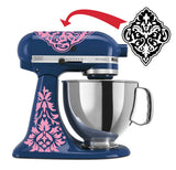 Damask Vinyl Mixer Decal