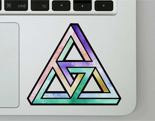 Watercolor Impossible Shape Decal