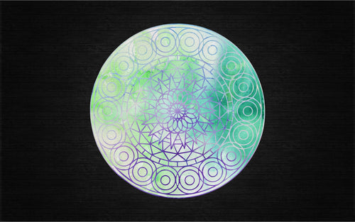 Beautiful Water Color Mandala Printed Decal for Laptops, Windows and More! Lots of Sizes Available!