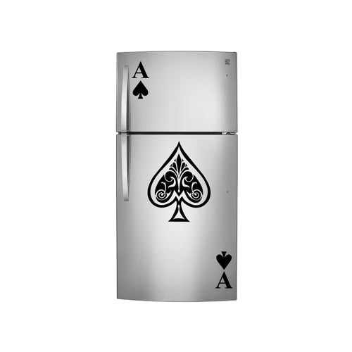 Ace of Spades Vinyl Decals for Top and Bottom Refrigerators