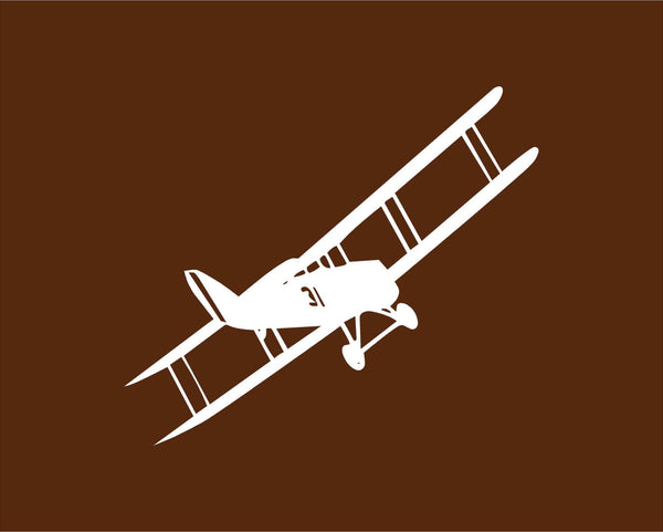 Single Prop Biplane Vinyl Decal - Great for Kids Rooms Walls and More!