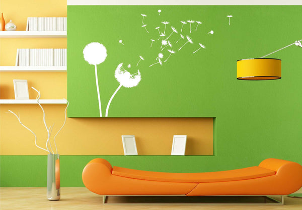 Dandelions in the Wind - Beautiful Large-Size Vinyl Decal for Walls, Windows and More!