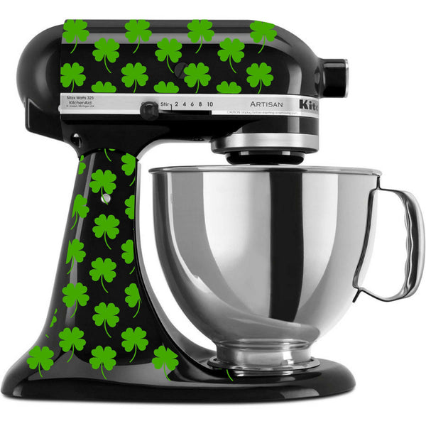 Four Leaf Clover - St Patrick's Day Themed Vinyl Decal Set for Kitchenaid Mixers and More!