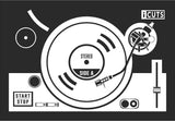 Turn Table Vinyl Record Dj Inspired Vinyl Decal with