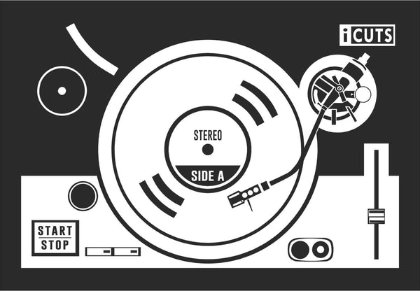 "Turn Table Vinyl Record Dj Inspired Vinyl Decal with ""Glowing"" Center for Macbook Laptops and More!"