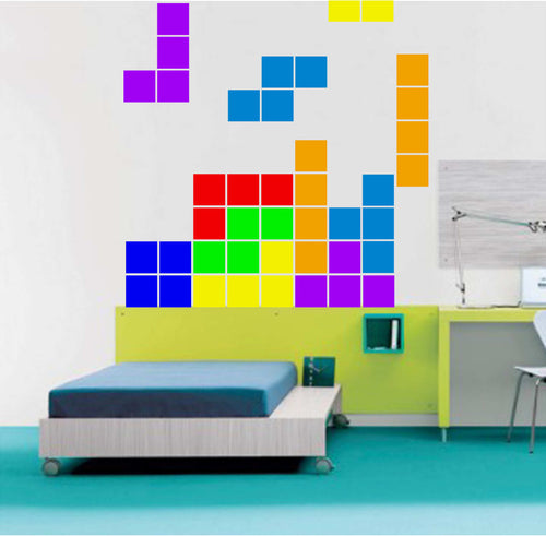Tetris Themed Stacking Wall Decal Set