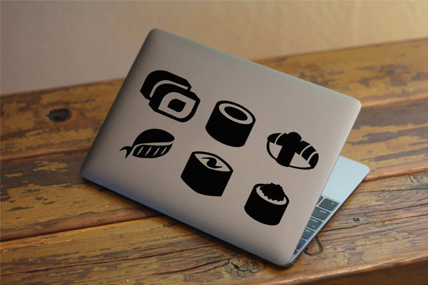 Cute Sushi Vinyl Decal Set for Windows, Laptops and More! Lots of Colors to Choose From!