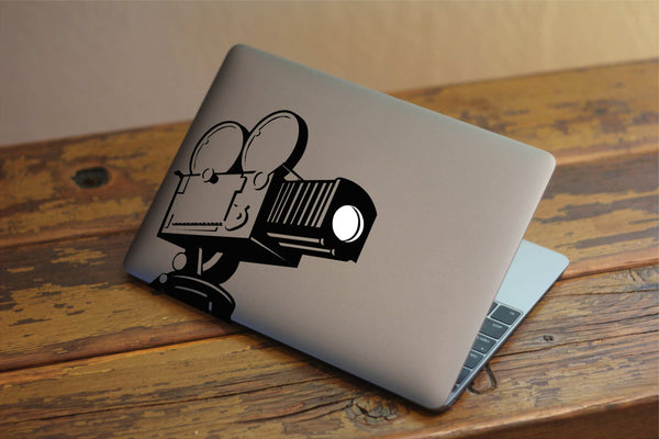 "Camcorder Professional Filmography Vinyl Dccal with ""Glowing"" Lens for Macbook Laptops and More!"