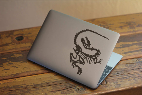 Velociraptor Fossil - Dinosaur Vinyl Decal for Laptops, Windows and More! Lots of Colors Available!