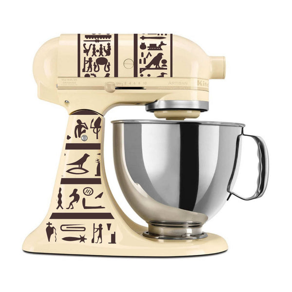 Heiroglyphics Themed Vinyl Decal for Kitchenaid Mixer 4 Quart and More! Lots of Colors Available!