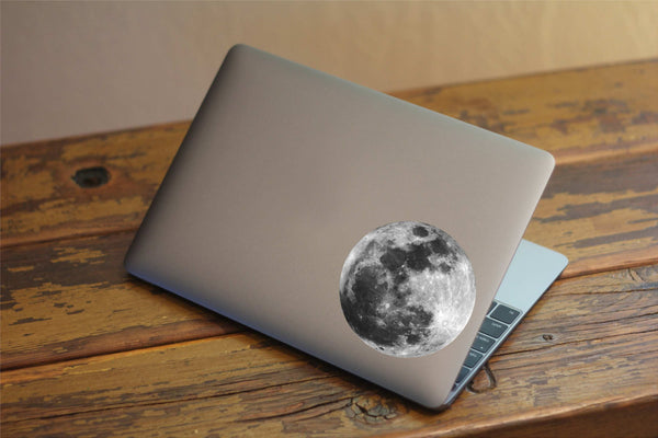 Beautiful Moon Printed Decal for Laptops, Windows and More! Lots of Sizes Available!