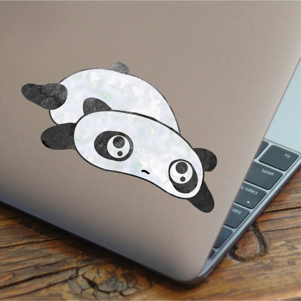Floppy Water Color Panda Decal