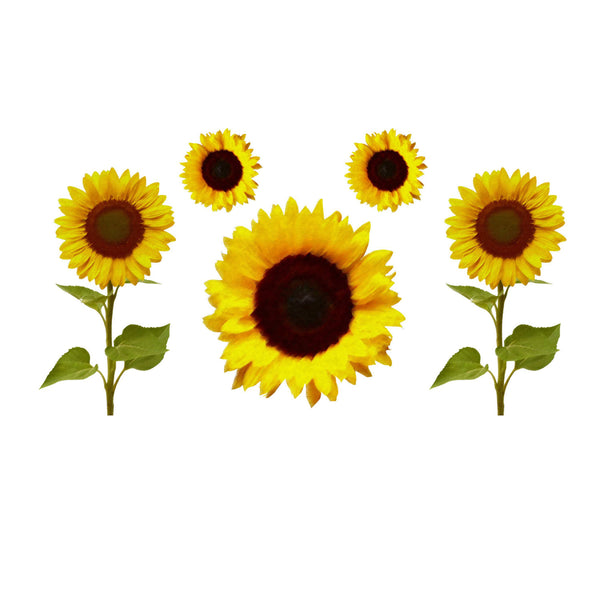 Pastel Sunflowers Printed Decal Set