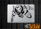 Vintage Iron Man - 70s Comic Book Style Vinyl Decal for Mac