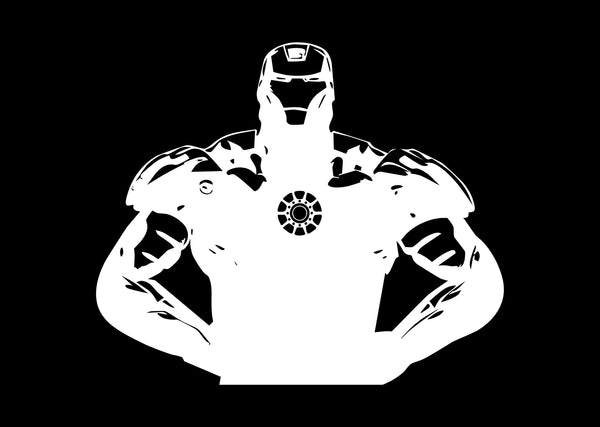 Iron Man Stance - Marvel Vinyl Decal for Mac