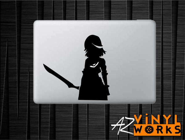 "Ryuko Matoi - Kill La Kill Inspired Vinyl Decal with ""Glowing"" Senketsu for Macbook Laptops and More!"