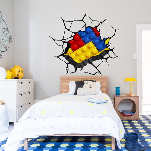 Lego Set Crack Wall Decal