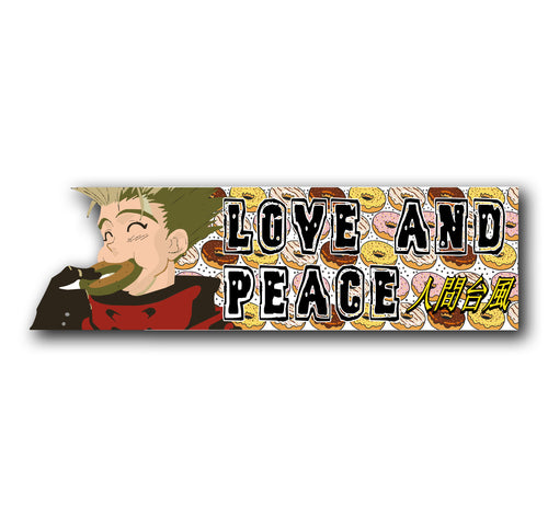 Love and Peace Vash the Stampede Decal