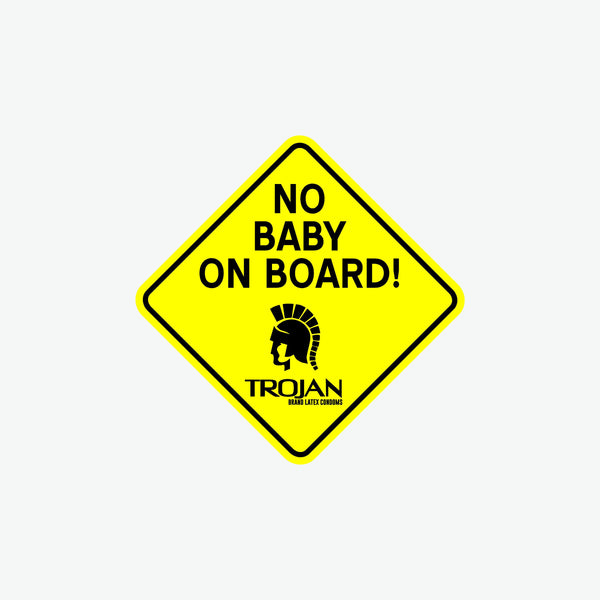 No Baby on Board Decal