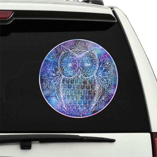 Watercolor Owl Static Cling