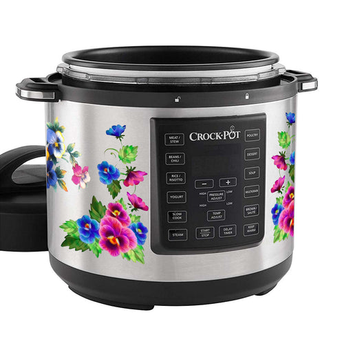Pastel Pansy Slow Cooker Decal
