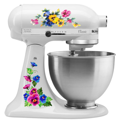 Pastel Pansy Mixer Decal