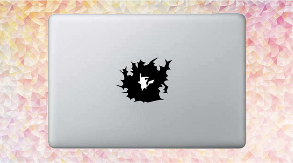 Pikachu Thunderbolt - Pokemon Vinyl Decal for Mac