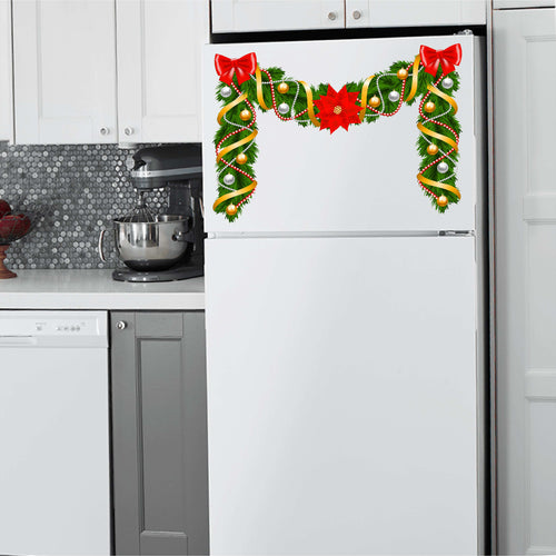 Poinsettia Top Christmas Vinyl Decal for Refrigerators, Dishwashers and More!