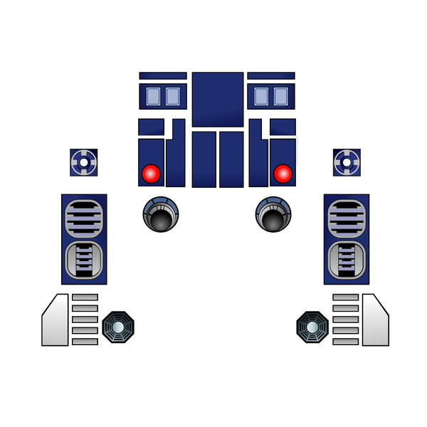 R2D2 Mixer Decal Set