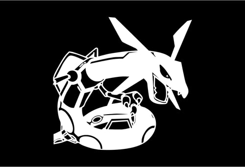 Rayquaza Twist - Pokemon Vinyl Decal for Mac