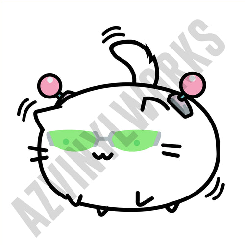 Saiki K Cat Form Printed Decal