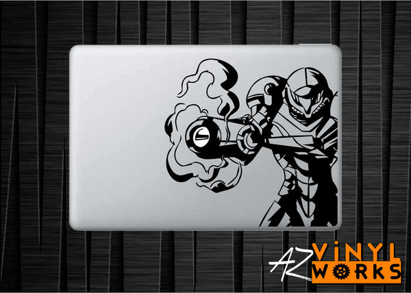 Samus Aran Smoking Gun - Metroid Inspired Vinyl Decal