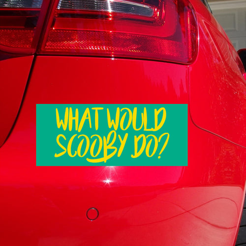 What Would Scooby Do Sticker