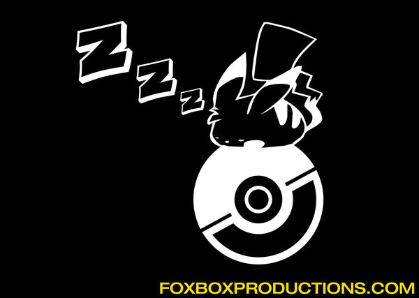 Sleepy Pikachu Pokeball - Pokemon Vinyl Decal for Mac